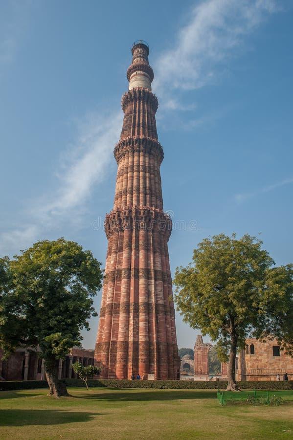 Torre de Qutub Minar, Delhi, la India imágenes de archivo libres de regalías