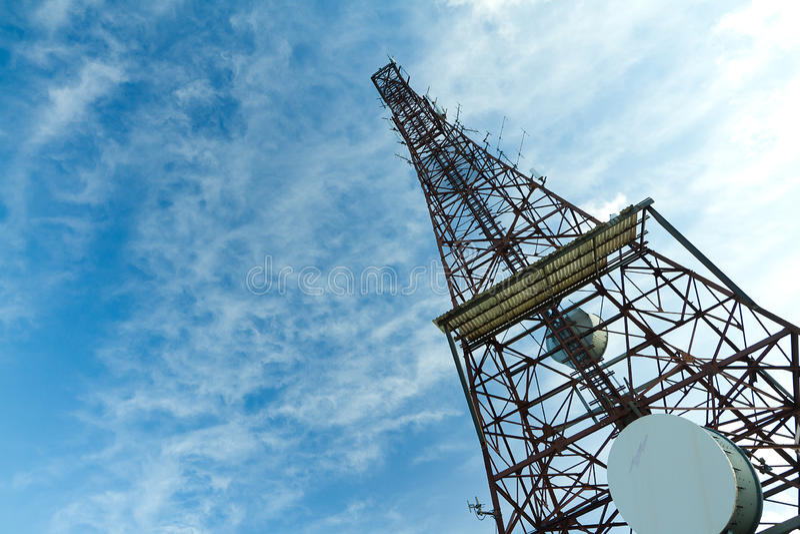 Torre de rádio imagens de stock