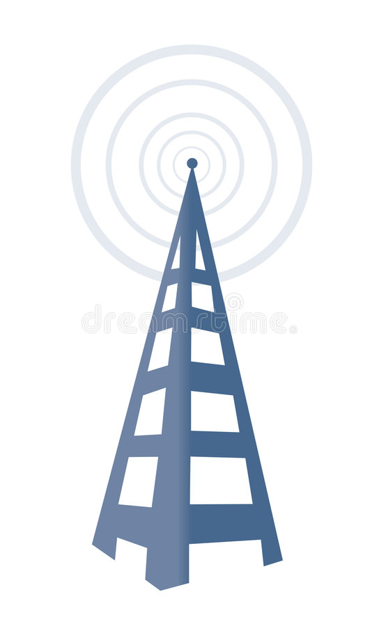 Torre de rádio ilustração do vetor