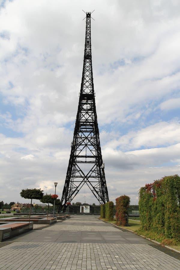 Torre de rádio de Gliwice foto de stock