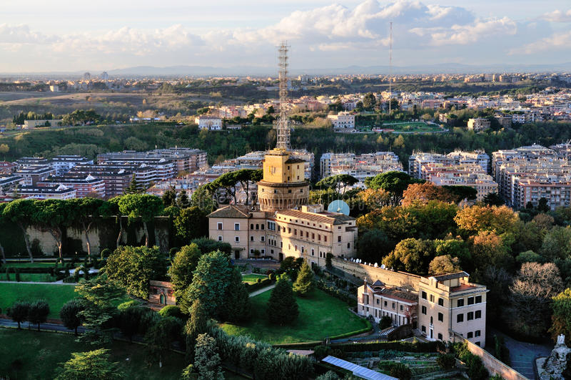 Torre de rádio de Vatican foto de stock