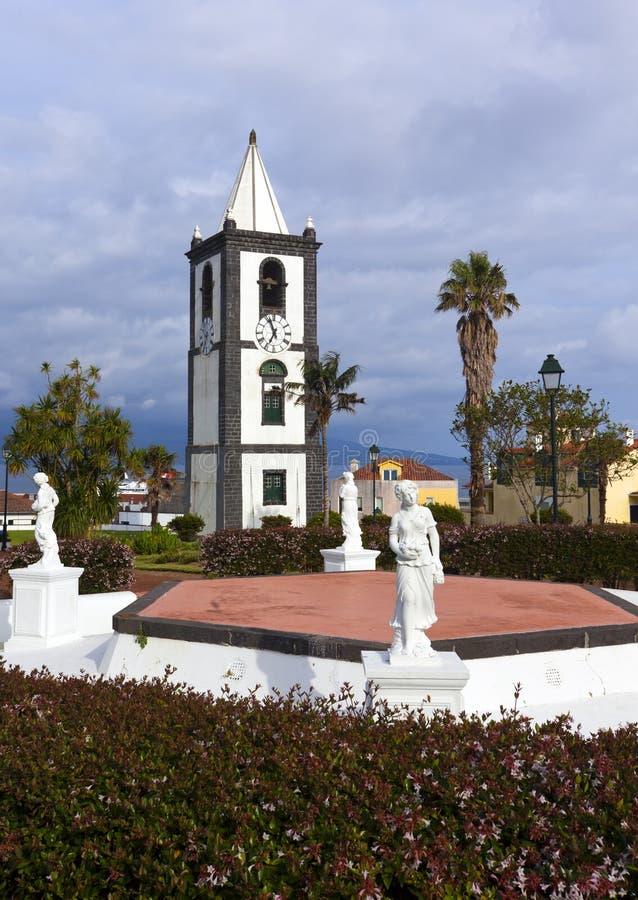 Torre de Rélogio, Horta, Faial, Azoren lizenzfreie stockfotografie