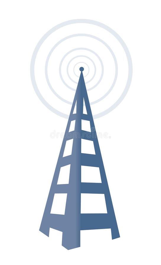 Torre de radio ilustración del vector