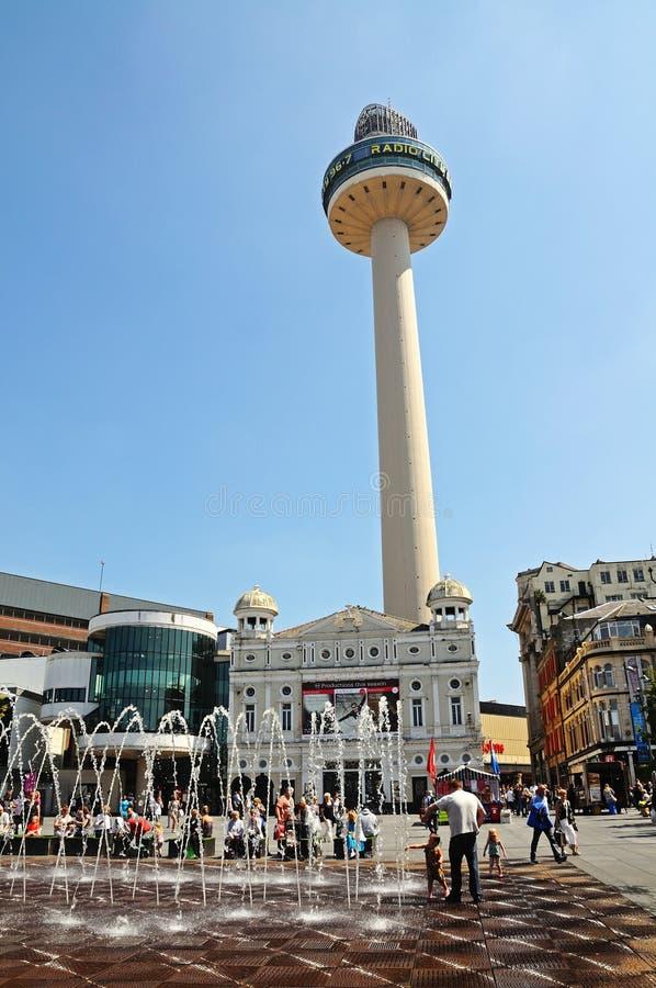 Torre de radio de la ciudad, Liverpool fotos de archivo libres de regalías