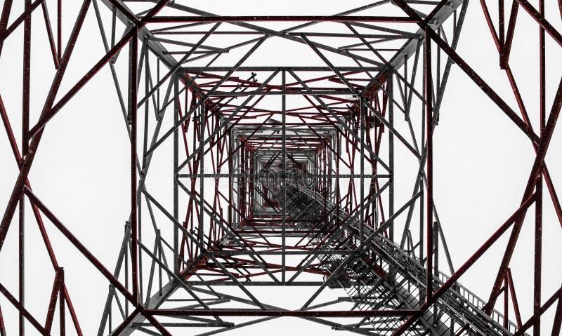 Torre de radio en Finlandia fotos de archivo