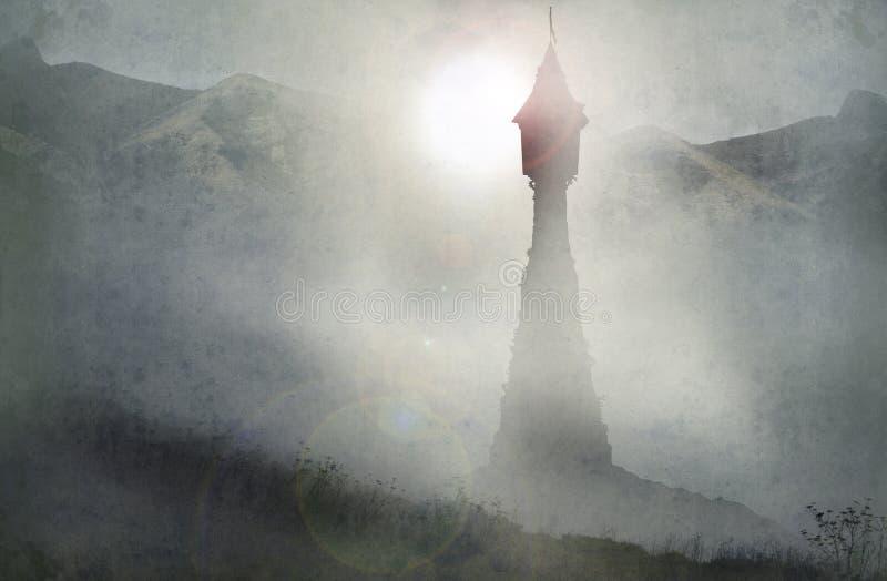 Torre de Rapunzel ilustración del vector