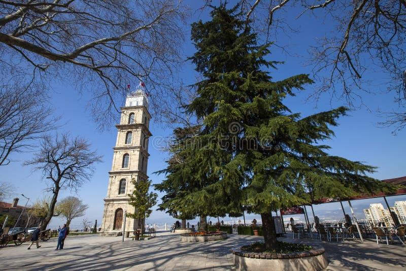 Torre de reloj de Bursa imagen de archivo libre de regalías