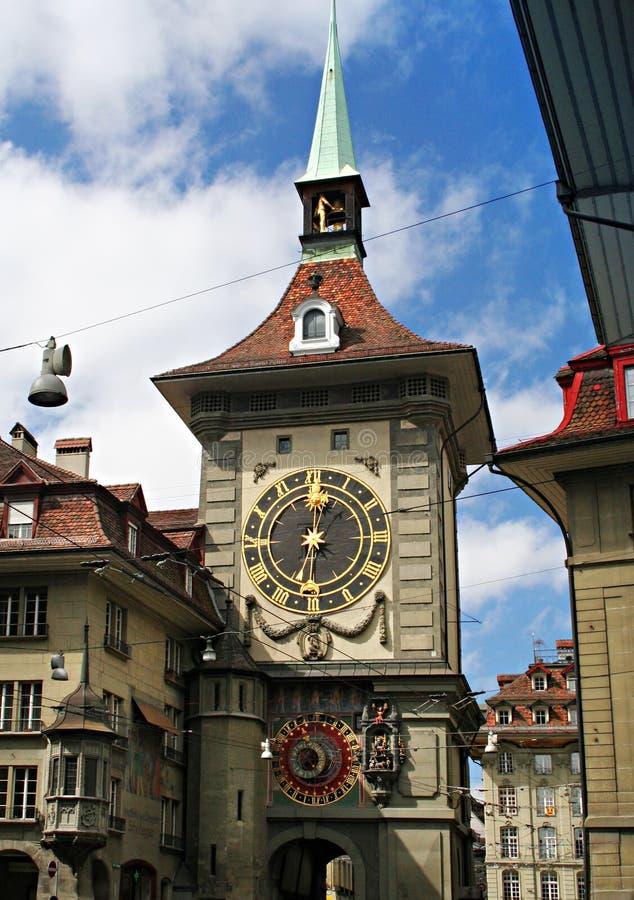 Torre de reloj de Berna foto de archivo