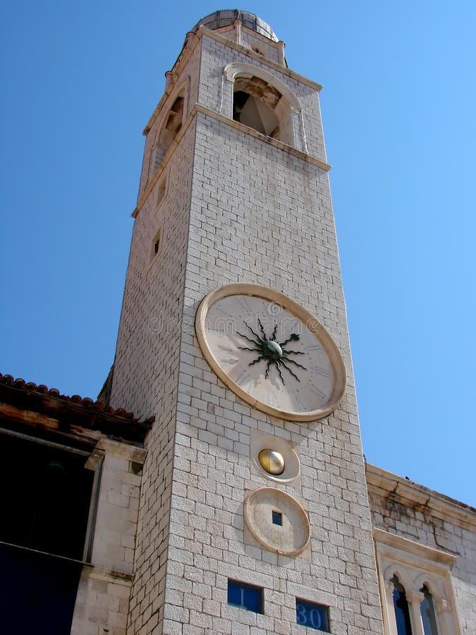 Torre de reloj de Dubrovnik imagen de archivo