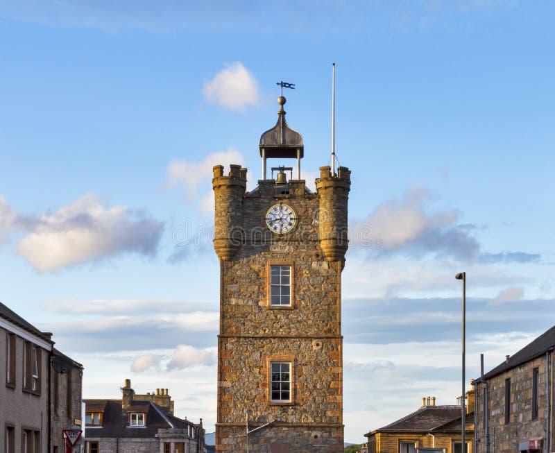 Torre de reloj de Dufftown. imagen de archivo libre de regalías