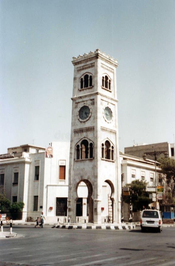Torre de reloj de Hama imagenes de archivo
