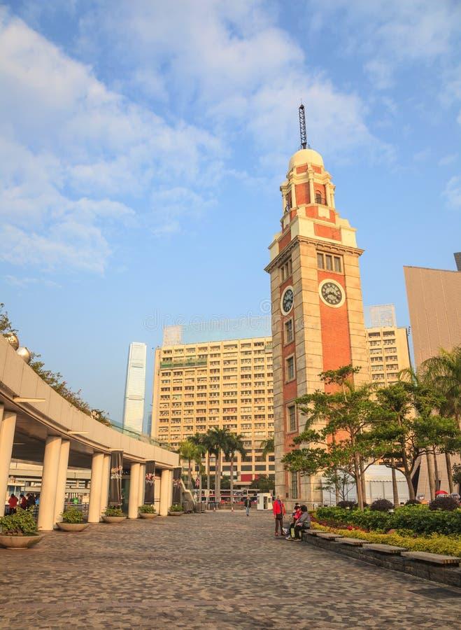 Torre de reloj de Hong-Kong fotos de archivo