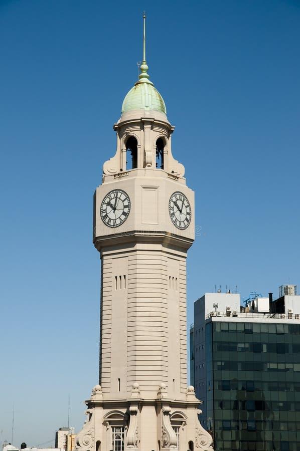Torre de reloj de la legislatura de la ciudad - Buenos Aires - la Argentina foto de archivo