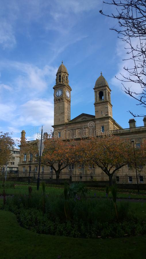 Torre de reloj de Paisley foto de archivo