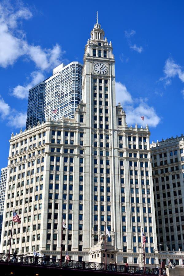 Torre De Reloj De Wrigley, Chicago Foto editorial - Imagen de señal ...