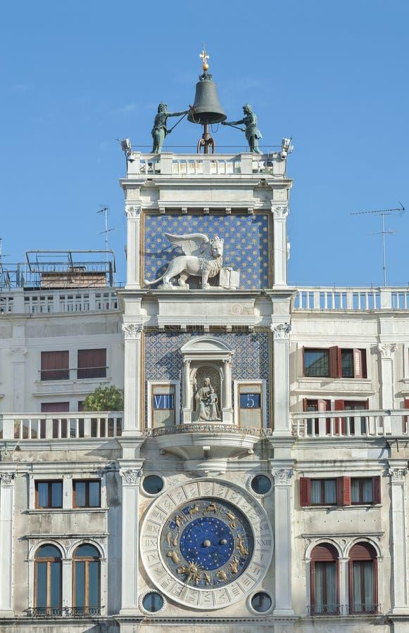 Torre de reloj del zodiaco en Venecia, Italia foto de archivo libre de regalías