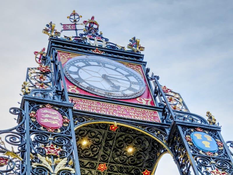Torre de reloj en Chester fotografía de archivo libre de regalías
