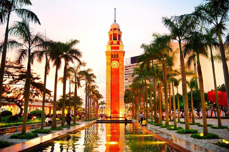 Torre de reloj en HK fotografía de archivo libre de regalías
