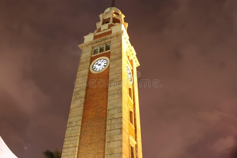 Torre de reloj en HK imagen de archivo libre de regalías