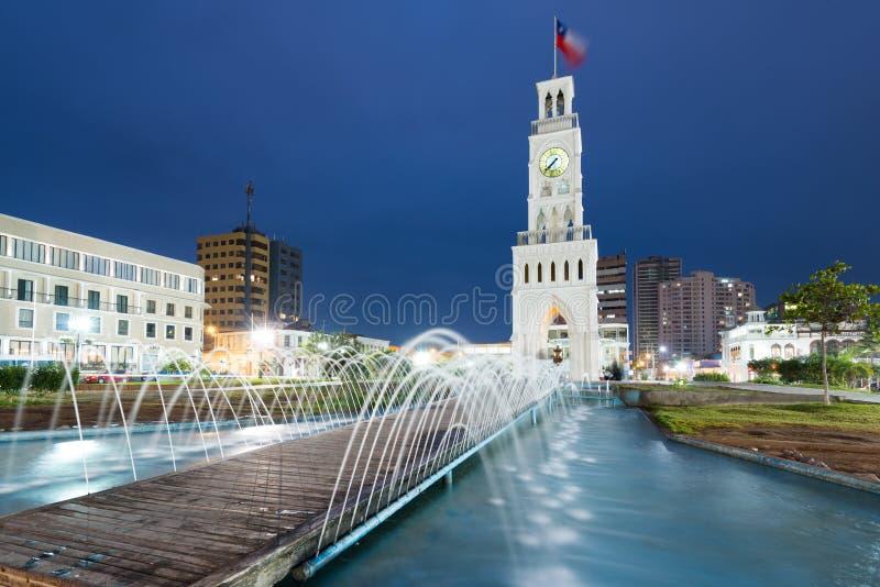Torre de reloj en Iquique imágenes de archivo libres de regalías