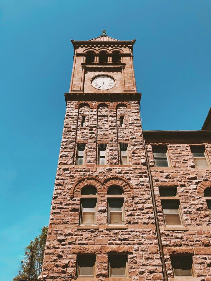 Torre de reloj en Jim Thorpe fotos de archivo