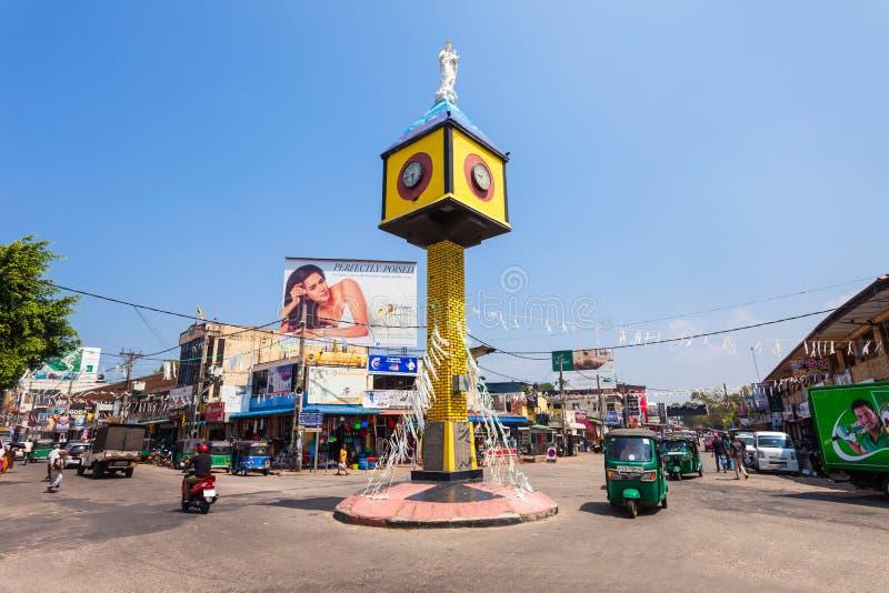 Torre de reloj en Negombo imagen de archivo libre de regalías