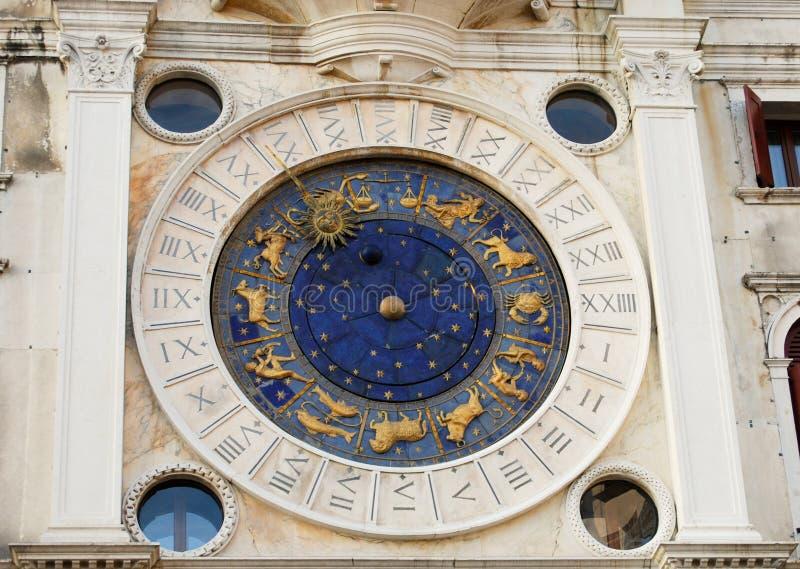 Torre de reloj en Venecia imagenes de archivo