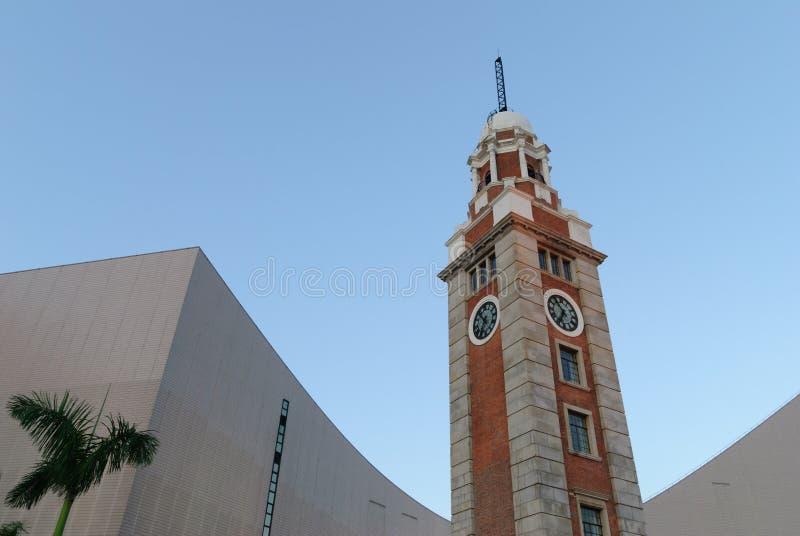 Torre de reloj, Hong Kong foto de archivo