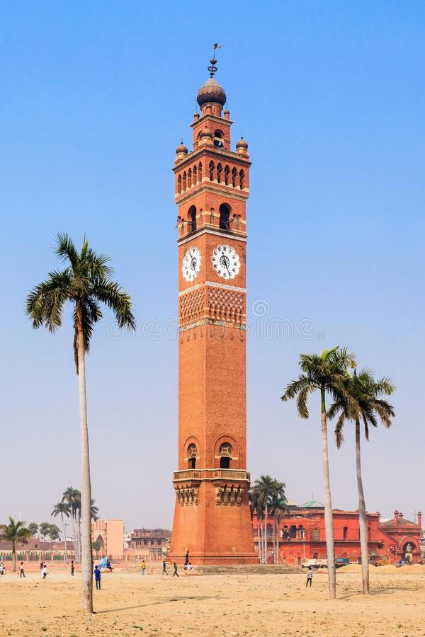 Torre de reloj de Husainabad imagen de archivo libre de regalías