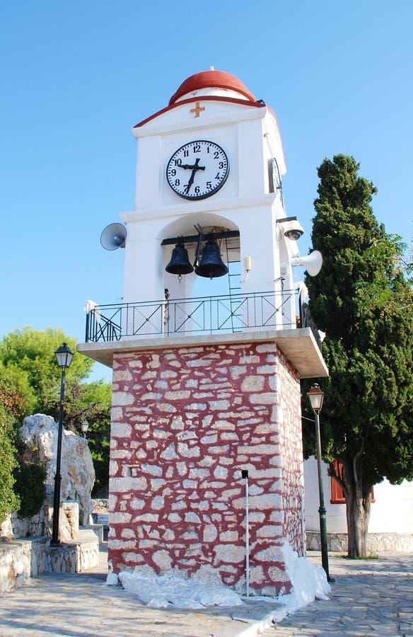Torre de reloj, Skiathos foto de archivo libre de regalías