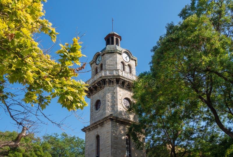 Torre de reloj de Varna, Bulgaria fotografía de archivo