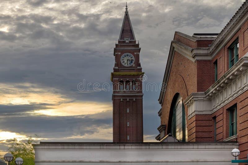 Torre de rey Street Station Clock imagen de archivo libre de regalías
