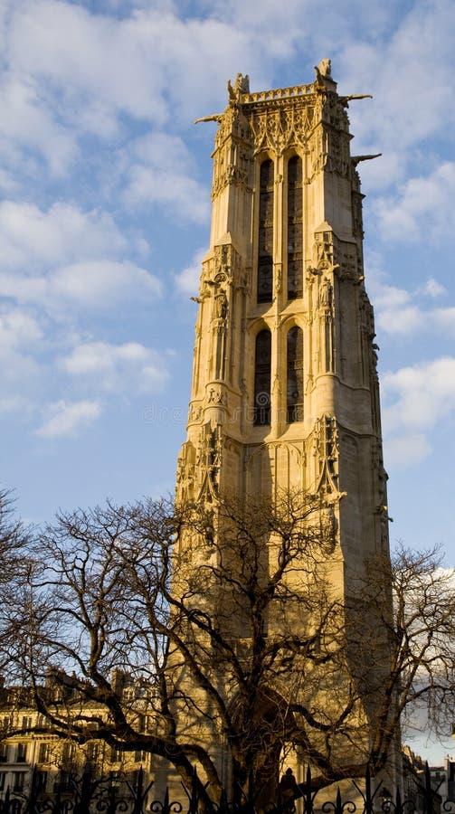 Torre de Saint-Jacques em Paris fotos de stock royalty free