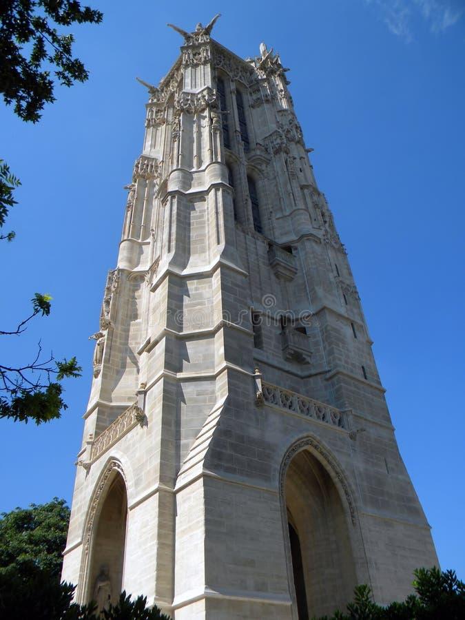 A torre de Saint Jacques, Paris fotografia de stock