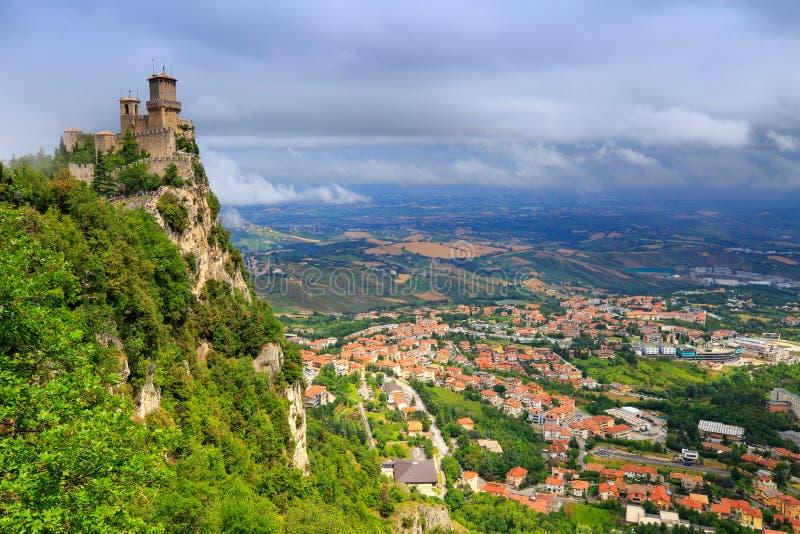 Torre de San Marino fotografia de stock royalty free
