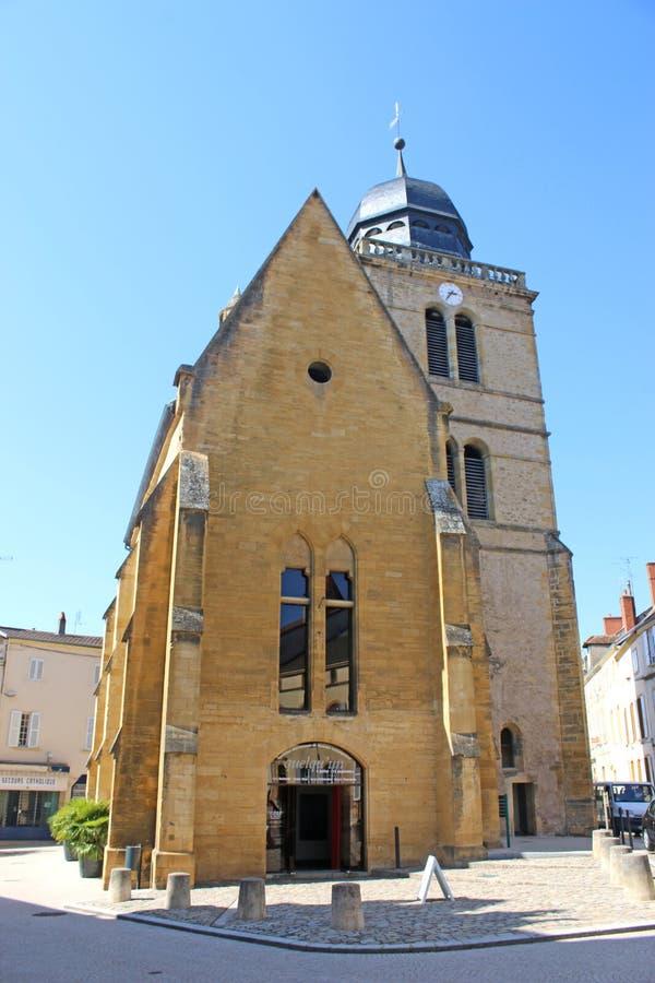 Torre de San Nicolás, Paray-le-Monial Francia foto de archivo
