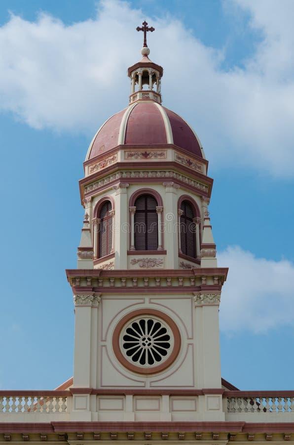 Torre de Santa Cruz Church (Banguecoque, Tailândia) foto de stock royalty free