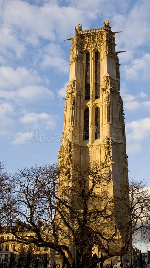 Torre de Santo-Jacques en París fotos de archivo libres de regalías