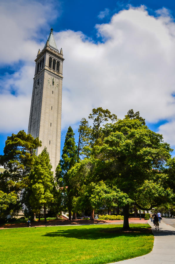 Torre de Sather - Uc Berkeley imagem de stock royalty free