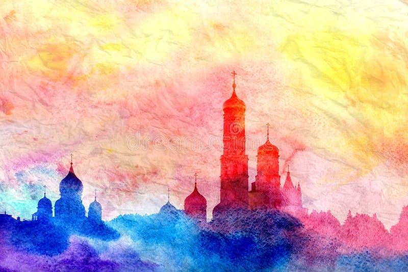 Torre de sino alta de Ivan ilustração stock