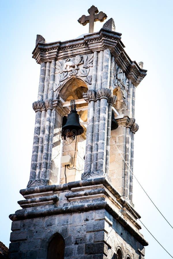 A torre de sino bonita imagem de stock royalty free