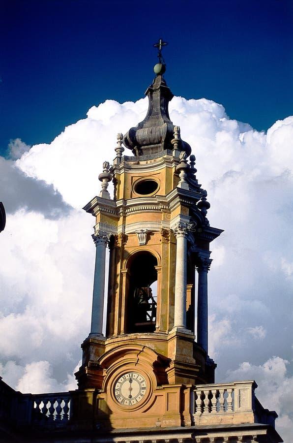Torre de sino da igreja foto de stock