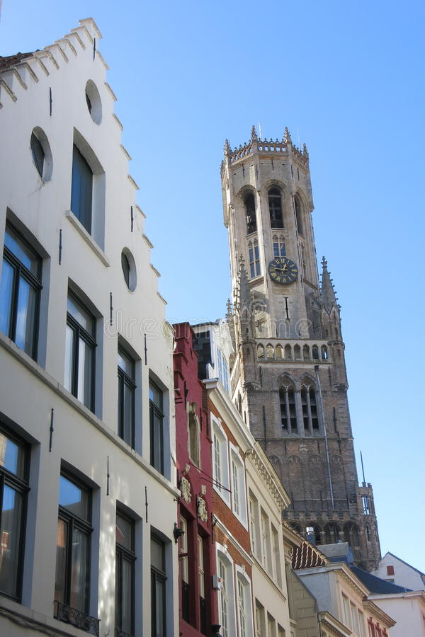 Torre de sino de Bruges fotos de stock