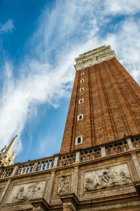 Torre de sino de Campanile di San Marco em San Marco Piazza, Veneza imagens de stock