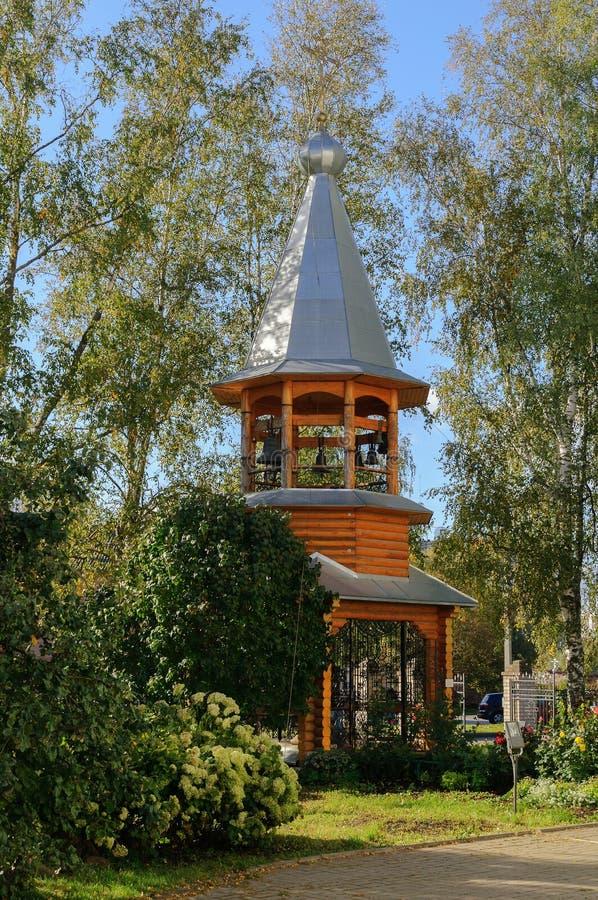 A torre de sino do monastério Zverin fotografia de stock