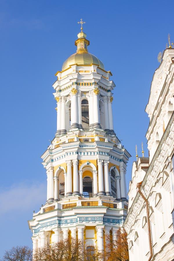 Torre de sino do Pechersk Lavra em Kiev, Ucrânia foto de stock