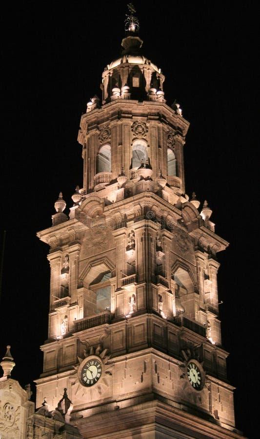Torre De Sino, Morelia, México. Fotografia de Stock Royalty Free