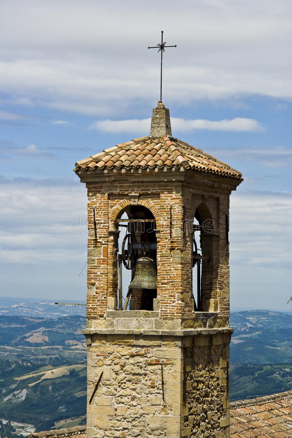 Torre de sino velha imagens de stock