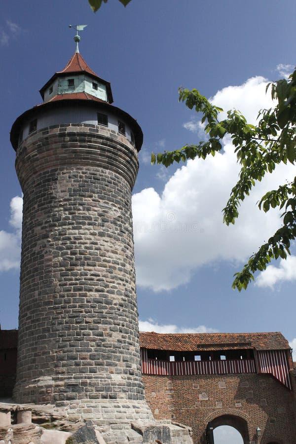 Torre de Sinwell del castillo de Nurnberg foto de archivo