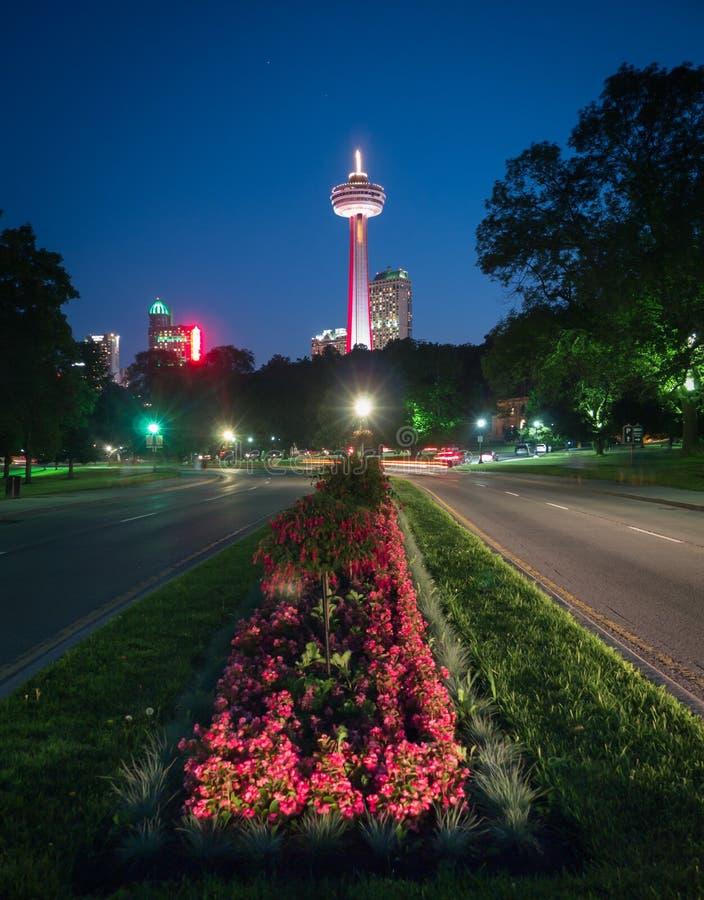 Torre de Skylon en Niagara Falls, Ontario, Canadá fotos de archivo libres de regalías